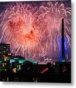 Boston Fireworks 1 Metal Print