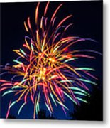 Boston Fireworks Metal Print
