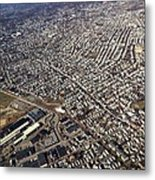 Boston From Above Metal Print