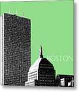 Boston Hancock Tower - Sage Metal Print