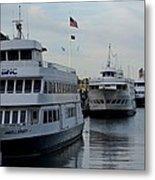 Boston Harbor Cruise Three In A Row Metal Print
