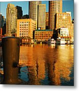 Boston Harbor Metal Print by James Kirkikis