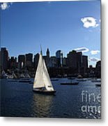 Boston Harbor Metal Print by Olivier Le Queinec