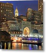 Boston Harbor Party Metal Print