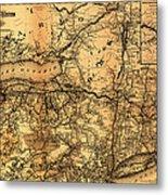 Boston Hoosac Tunnel And Western Railway Map 1881 Metal Print