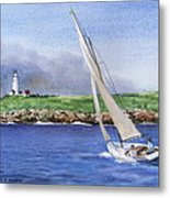 Boston Light Metal Print
