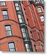 Boston Ma Building Facade Metal Print