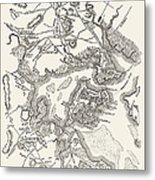 Boston: Map, 1775-1776 Metal Print