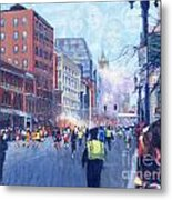 Boston Marathon Angels Metal Print