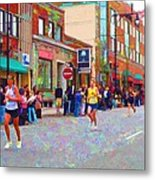 Boston Marathon Mile Twenty Two Metal Print