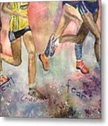 Boston Marathon Strength Metal Print