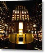 Boston - Night At Post Office Square Metal Print