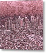 Boston Panorama Abstract Metal Print
