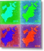 Boston Pop Art Map 2 Metal Print by Naxart Studio