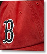 Boston Red Sox Baseball Cap Metal Print