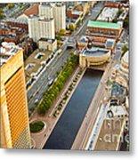 Boston Rooftops Metal Print
