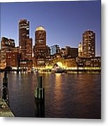 Boston Skyline And Fan Pier Metal Print by Juergen Roth