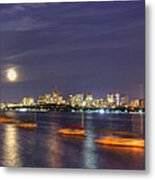Boston Skyline From Memorial Drive Metal Print