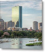 Boston Skyline I Metal Print