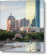 Boston Skyline II Metal Print