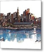 Boston Skyline  Number 3 Metal Print