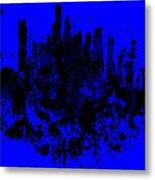 Boston Skyline Paint Splash 2 Metal Print