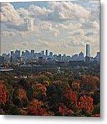 Boston Skyline View From Mt Auburn Cemetery Metal Print