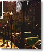 Brisk Walk On Hanover Street - Boston Metal Print