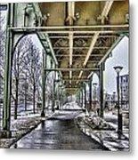Boston Streetcar Overpass-cambridge V2 Metal Print