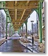 Boston Streetcar Overpass Metal Print