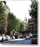 Boston Streetscene  Metal Print