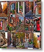 Boston Tourism Collage Metal Print