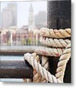 Boston Waterfront From Charlestown Metal Print