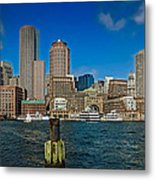 Boston Waterfront Skyline Metal Print