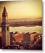 Boston's Custom House Metal Print