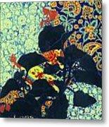 Botanical Klimt Metal Print
