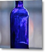 Bottle Blue Metal Print