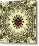 Bottle Brush Kaleidoscope Metal Print