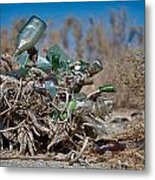 Bottle Bush Metal Print