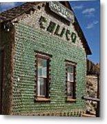 Bottle House Calico California Metal Print