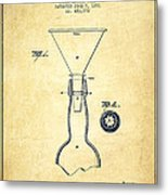Bottle Neck Patent From 1891 - Vintage Metal Print