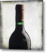 Bottle Of Bordeaux Metal Print