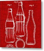 Bottle Support Patent Drawing From 1937 3 Metal Print