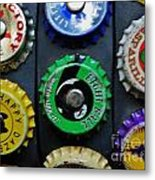 Bottle Tops Metal Print