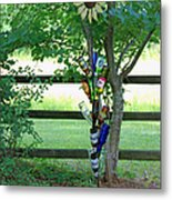Bottle Tree Metal Print by Suzanne Gaff
