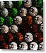 Bottle Wall Metal Print