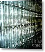 Bottle Wall Metal Print