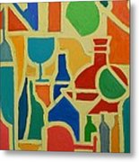 Bottles And Glasses 2 Metal Print