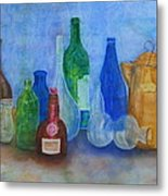 Bottles Collection Metal Print