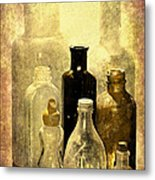 Bottles From The Past Metal Print